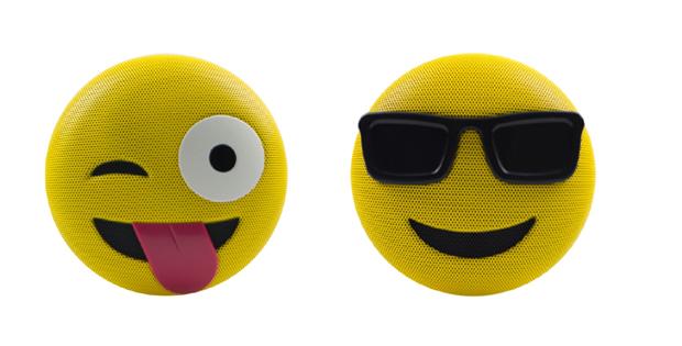 Bluetooth-Speakern in Emoji-Optik